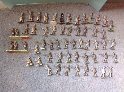 Collection Of Lead Soldiers Unpainted Infantry