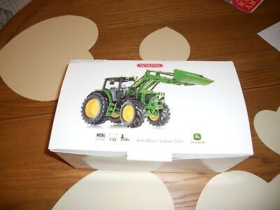 Wiking John Deere 7430 With Loader Brand New Mint In Unopened Box