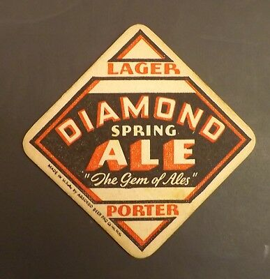 Vintage Diamond Spring Beer Coaster -  New Haven, CT - No Reserve!