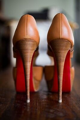 Christian Louboutin Leather Pitou Peep-toe pumps size 8. Were bought at $950
