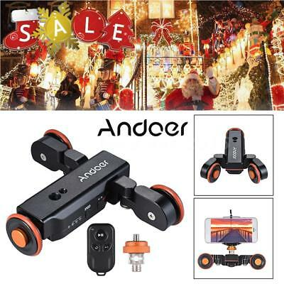 Andoer 1800mAh 3-Speed+Control Dolly Rolling Rail for GoPro iPhone X 8 6 G4I5