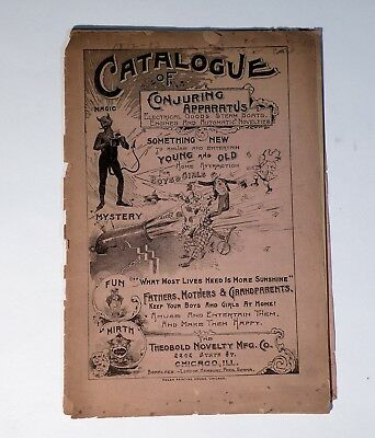 1892 MAGIC Conjuring Catalog includes Cast Iron Banks, Theobold Nov. Co. 48 pg.