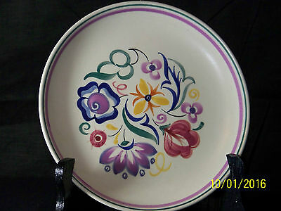 Poole Studio Pottery Pat Dightam Design Hand Painted Mid Century c1950's Charger