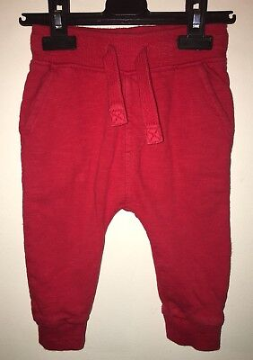 Next Baby Boys Red Trousers Joggers (2017) 9-12 Months GC