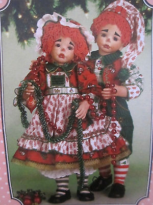 "New Paradise Galleries Ragtime Christmas Set Molly Matthew 19"" Dolls"