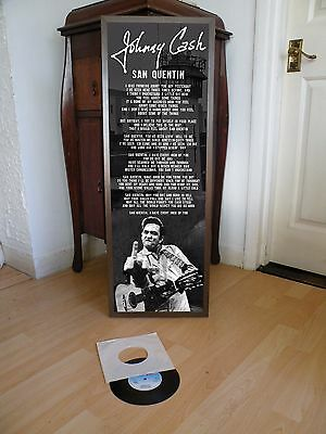 Johnny Cash San Quentin Promotional Poster Lyric Sheet,hurt,country Rock