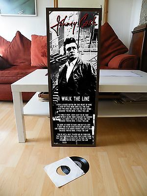 Johnny Cash I Walk The Line Promotional Poster Lyric Sheet,country,san Quentin