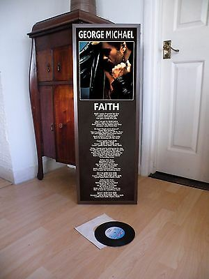 George Michael Faith Poster Lyric Sheet,wham,pop,rock,fathercareless Whisper