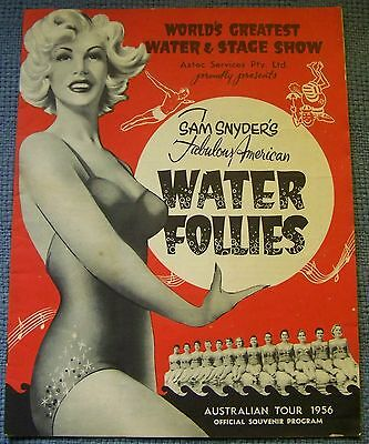 Water Follies Australian Tour 1956 souvenir program
