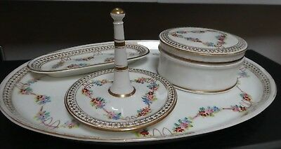 Stunning Quality Antique Handpainted Gilded Dressing Table Vanity Set
