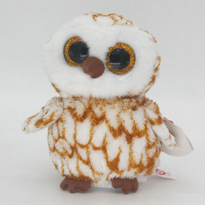 """6"""" Ty Beanie Boos Swoops Brown Barn Owl Med Stuffed Animal Plush Toys Gifts Y1"""