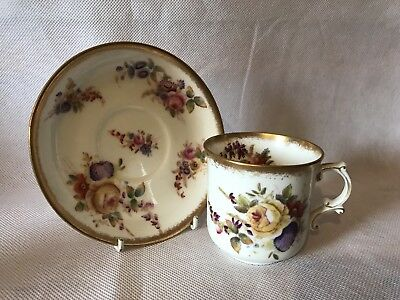 Beautiful Vintage Hammersley Dresden Sprays Cup & Saucer Set
