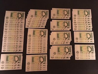 65 Series D £1 Bank of England notes