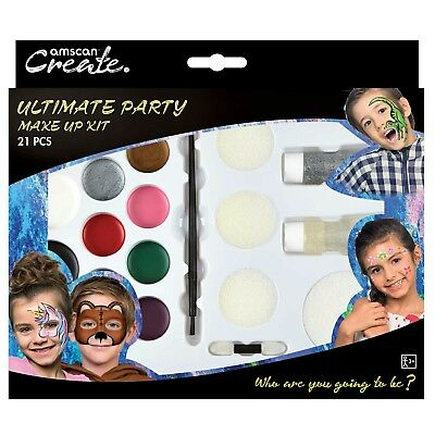 Face Paint Ultimate Party Pack Body Kit  65 faces Make Up Halloween rrp£10p