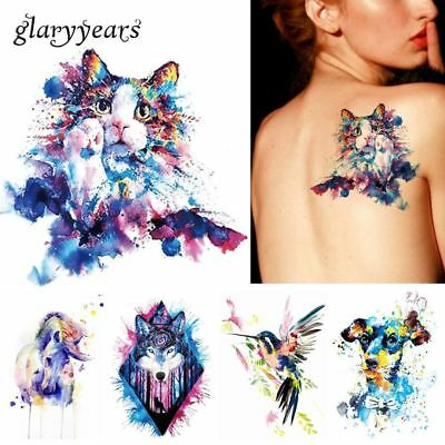 Body Art Tattoo Painting Drawing Butterfly Waterproof Temporary Tattoos Sticker