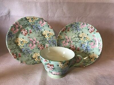 Beautiful Vintage Shelley Melody Tea Trio