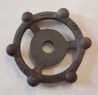 "Vintage Steampunk Cast Iron Water Valve Handle 4"" Inch"