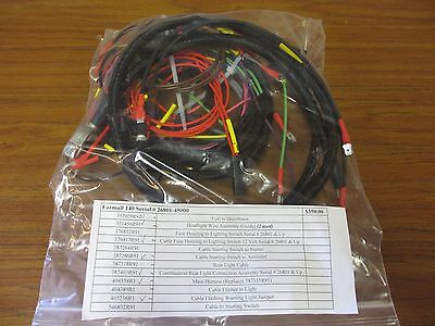 New Farmall 140 Serial # 26801-45000 Kit - 12 Wiring Harnesses Included
