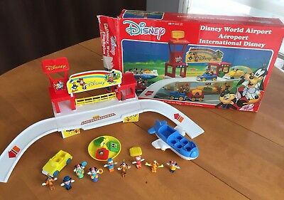 Vintage DISNEY WORLD AIRPORT Arco 1987 Toy Very Rare Playset Collectible w/ Box