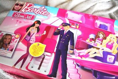 Barbie Glam Jet (Vacation Plane, 2009. Avion) +35 Pieces! Lite Damaged Box, Bnib