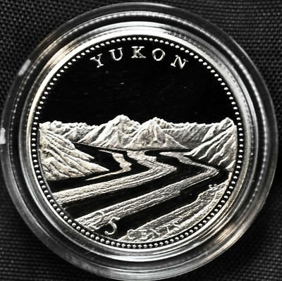 1992 125th anniversary of Canada Silver Proof 25 Cents Coin Yukon