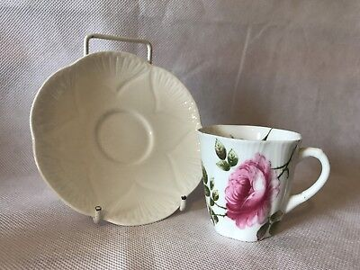 Lovely Vintage Shelley Rambler Rose Pattern Coffee Cup & Saucer Set