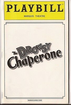The Drowsy Chaperone playbill with Sutton Foster + original cast