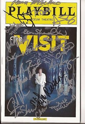 The Visit signed by Chita Rivera and the late Roger Rees