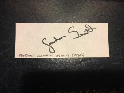 Hearts FC: Autograph: Gordon Smith (1970s)