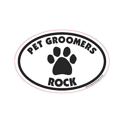 Pet Groomers Rock Oval Euro Style Car Dog Magnet