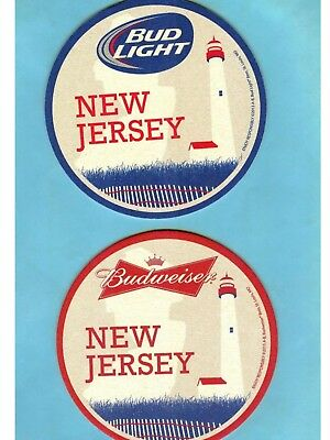 Budweiser And Bud Light New Jersey Coasters, (125) Count, New