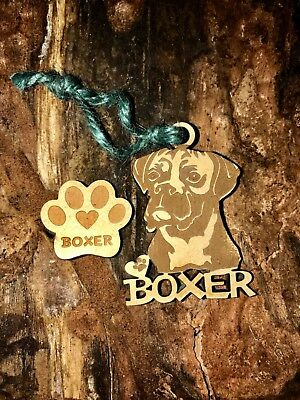 Boxer Christmas Ornament & 2 FREE MAGNETS