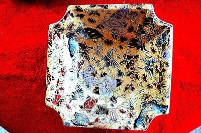 Ornate China  Export Hand Made &  Painted Gold  Medium Size Bowl