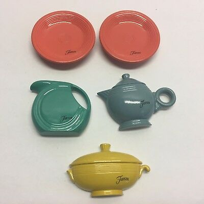 FIESTA REFRIGERATOR MAGNETS  loose PLATES PITCHER DISH rare please read