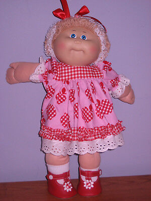 CABBAGE PATCH KID DOLL----Red and White--Blonde.