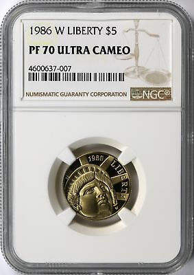 1986-W Liberty Gold $5 Commemorative NGC PF70 Ultra Cameo UCAM