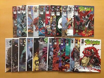 Lot of 25 Spawn Comics 8-73 Todd McFarlane 10 11 12 13 14 17 24 29 34 37 36 39 +