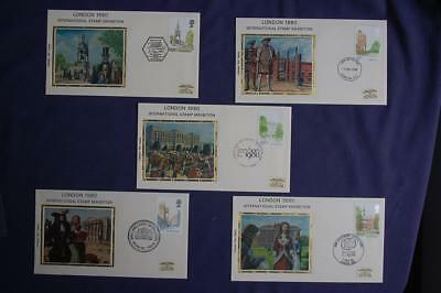 Great Britain Royal Sites Stamps 5 FDCs Colorano Sc#910-914 CO365 Buckingham Pal