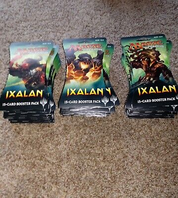 34 Magic The Gathering Ixalan BOOSTER PACKS - Sealed 15 Cards Per Pack MTG