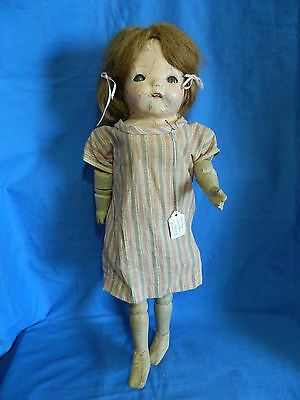 Rare Antique Wooden Composition Harry Coleman Walking Doll
