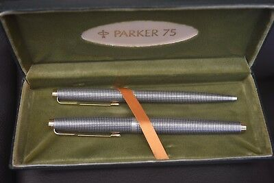 Parker 75 Pen Set (Two Pens Only) Fountain and Ball Point - Free Postage