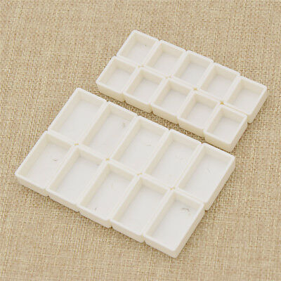 10pcs Plastic Water Color Pain Half Pans Full Pans White Empty Watercolor Case