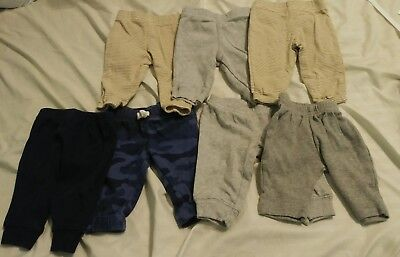 Lot of 7 pairs of Newborn Boy Pants!  Look!!
