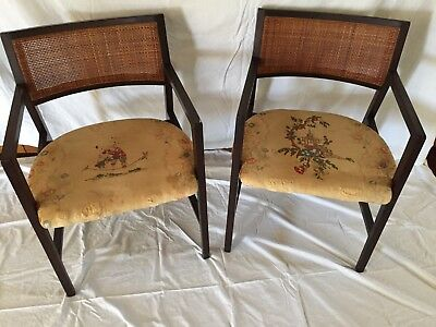 Set of 8 Mid Century Edward Wormley for Dunbar Dining Chairs