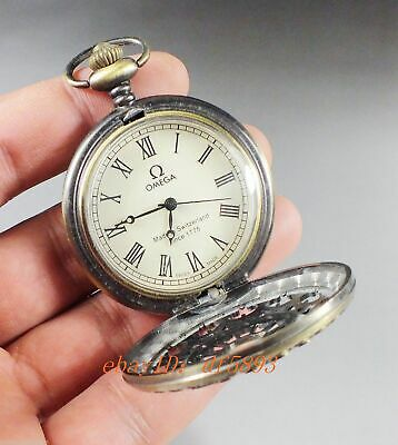 Collection bronze Carved flower mechanical pocket watch omea clock Pendant
