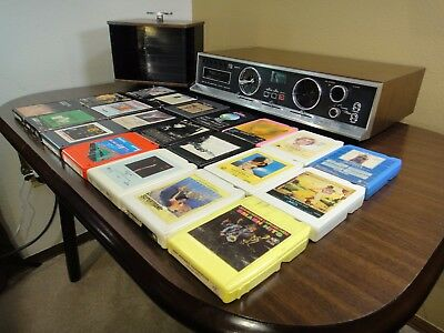 Electrophonic 4 Channel 8 Track Player Receiver *TESTED Carousel Tapes Lot = 23