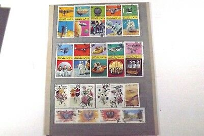 A very unusual and different collection of beautiful stamps Seldom seen. Oman.