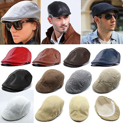 Men's Duckbill Newsboy Gatsby Cap Golf Driving Cabbie Beret Flat Ivy Hats Women