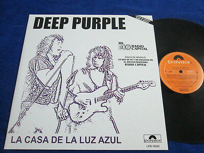 """Deep Purple """"house Of The Blue Light"""" Mexico Promo Vinyl Mexican Radio Station"""