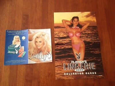 Playboy And Jenny Mccarthy Card Promo Poster X2